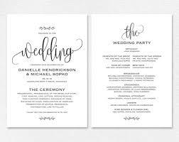 018 Wedding Program Template Free Microsoft Word Beautiful