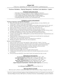 Warehouse Manager Resume Examples Resume Cover Letter Example