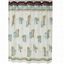 croft barrow palm isle fabric shower curtain tropical palm tree bath com