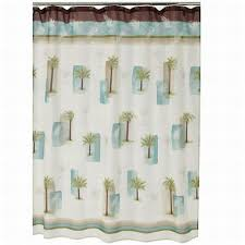 croft barrow palm isle fabric shower curtain tropical palm tree bath com