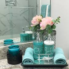 Turquoise Decorative Accessories Delectable Gray Bathroom Ideas For Relaxing Days And Interior Design