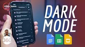 google docs dark mode how to enable