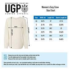 Campus Crew Size Chart Amazon Com Sconnie Original Womens Cozy Crew Sweatshirt