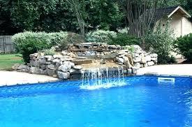 Waterfalls For Pools Inground Pool Designs With Waterfalls Rock