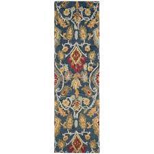 safavieh blossom 8 x 10 hand hooked wool rug in navy
