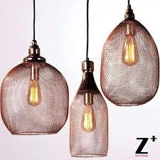 gold wire pendant light gold pendant lights new light art iron cage iron mesh rose gold