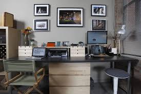 White Desk And Black Swivel On Carpet In Ikea Home Office Ideas Cool Design  Ideas ...