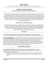 ... Cerner Systems Engineer Sample Resume 21 Control Systems Engineer Resume  Template Premium Resume.