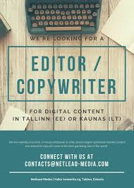 work as an english copywriter editor in  writing jobs seo copy editor