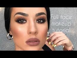 brown smokey eyes full face makeup