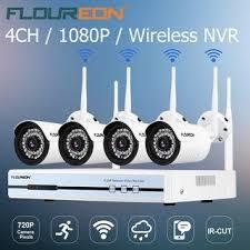 Shop <b>Floureon 4CH Wireless</b> CCTV 1080P DVR Kit Outdoor Wifi ...