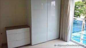 ikea pax farvik white glass sliding door wardrobe design