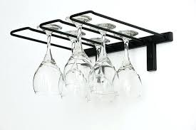 wine glass hanger metal stemware rack in satin black wine glass racks hanging australia