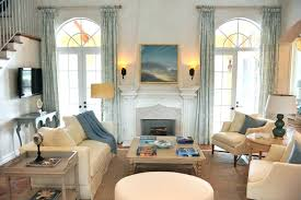 Beach House Window Treatments Family Room Tropical With Art Chairs Coastal  Image By Interiors Cottage Living
