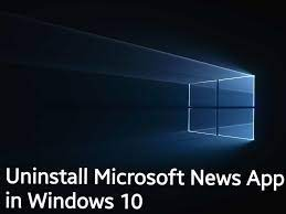 uninstall Microsoft News App in Windows 10