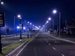 Ap Cm Dashboard Street Lights Andhra Pradesh Guns For World Record In Led Lights Installation