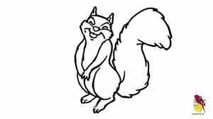Small Picture Simple Squirrel Drawing Funny Squirrel Easy Drawing How To Draw A