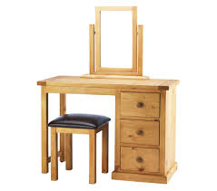 Nordic Chunky Solid Pine dressing table with stool photo
