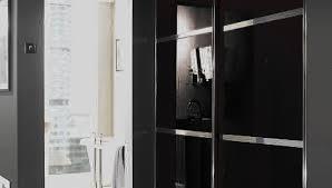 black sliding glass doors