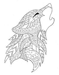 Wolf Coloring Page By Syvanahbennett On Etsy Coloring Pages To