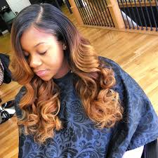 Light Brown Weave Sew In Brown And Blonde Highlights Sew In Deep Side Part