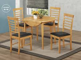 hanover round drop leaf dining set with 4 chairs 91cm