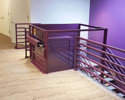 commercial wheelchair lift. Symmetry Custom Vertical Platform Lift Purple Commercial Setting Installed By Area Access Wheelchair