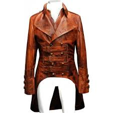 luxury steampunk antique tan tailcoat waistcoat military emsemble