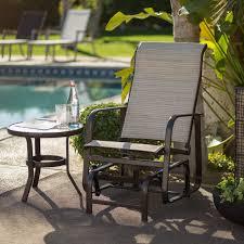 c coast del rey padded sling outdoor glider chair beach hayneedle