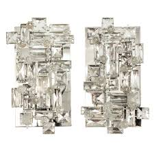 exceptional crystal sconces designed by j lobmeyr for the metropolitan opera house in new york austria