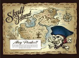 skull island pirate s treasure map children s wall mural