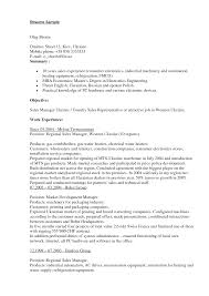 Polymer Sales Resume