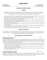 Business Resumes Example Of A Professional Resume Profile Examples Good Template 95