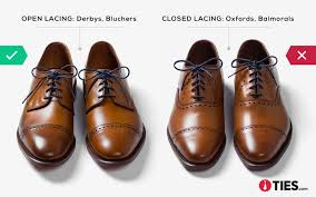 this style works with open lacing it should only be done when the top of the shoe is made up of two separate pieces of leather