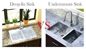 under mount sink drop in sink vs sink wall mount sink with countertop