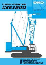 Hydraulic Crawler Crane Cke1800 Kobelco Crane East West