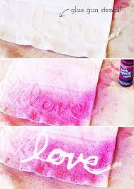 diy hot glue stencils stenciling on clothing via lilblueboo com
