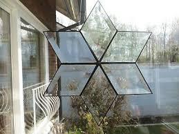 Tiffany Glas Facettenstern Fensterbild Handarbeit