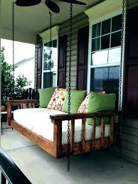hanging porch bed outdoor swing turned an old daybed australia