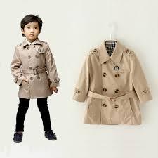 big brand children trench coat kids boy long jacket gentleman beige belt on outwear toddler boy coat