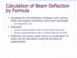 calculation of beam deflection by formula