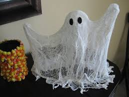halloween office decorations. Halloween Office Decorations - Cheese Cloth Ghost