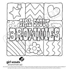 Girl Scout Coloring Sheets Girl Scout Brownie Girl Scouts
