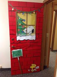 office door christmas decorating ideas. snoopy christmas door ms office decorating ideas