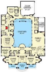Luxury with Central Courtyard - 36186TX floor plan - Main Level