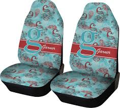 peacock car seat covers set of two personalized