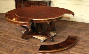 expanding round dining table expandable round dining table plans