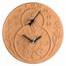 home and furniture lovely outdoor thermometer and clock in garden decorating your space throughout