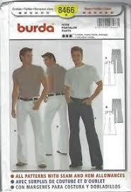 Details About Burda 8466 Sewing Pattern Mens Pants Waist Sizes 38 48 Brand New Uncut