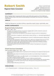 Regional Sales Consultant Resume Samples QwikResume Amazing Resume Sales Consultant